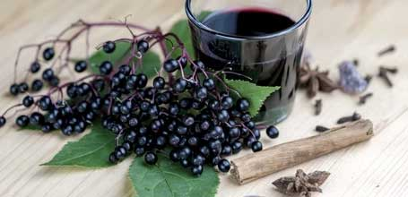 Elderberry  Elderberry is loaded with anti-aging and free-radical fighting properties to keep your skin radiant and healthy. Known for helping with acne, it also soothes the skin, helps ease the appearance of age spots, and prevents and lessens wrinkles.